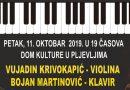 Koncert: Duo Vujadin Krivokapić (violina) i Bojan Martinović (klavir)
