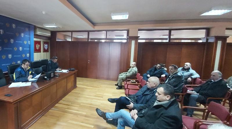 Obraćanje predsjednika Opštine Pljevlja Igora Golubovića nakon održanog sastanka Opštinskog tima za zaštitu i spašavanje