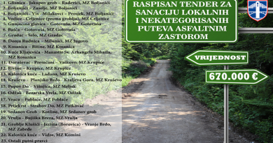 Raspisan tender za sanaciju lokalnih i nekategorisanih puteva asfaltnim zastorom vrijednosti 670.000 eura