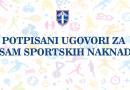 Potpisani ugovori za osam sportskih naknada