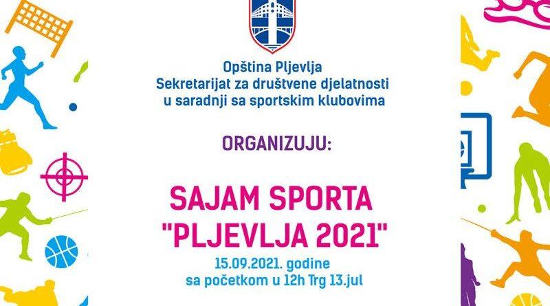 """NAJAVA DOGAĐAJA: Prvi sajam sporta """"Pljevlja 2021"""""""