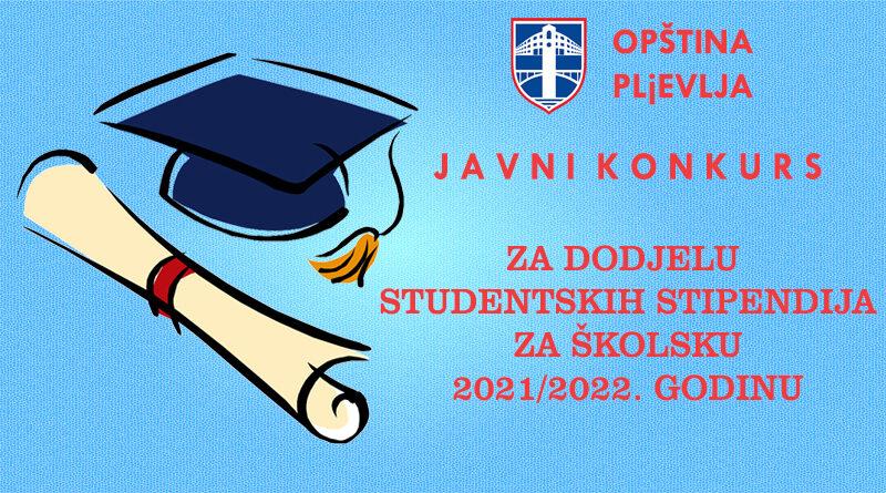 J A V N I  K  O  N  K  U  R  SZA DODJELU STUDENTSKIH STIPENDIJA ZA ŠKOLSKU 2021/2022. GODINU